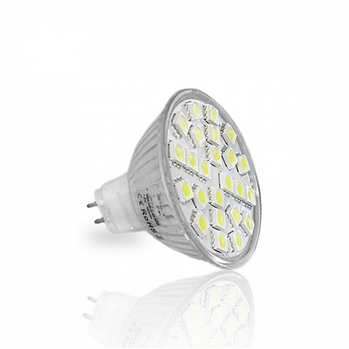 LED Spot MR16 12V DC 24 SMD 5050 Cool White