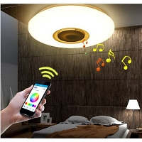 LED musical ceiling lamp Bluetooth 24W 4000K Ф400
