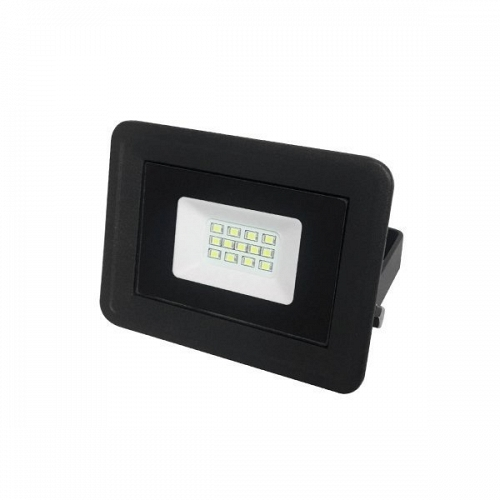 LED Floodlight Black SMD 10 W 230 Volt Warm White