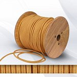 Fabric cable 2х0.75mm² Gold