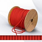 Fabric cable 2х0.75mm²  red