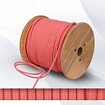 Fabric cable 2х0.75mm² pink