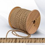 Fabric cable 2х0.75 twisted jute slim