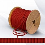Fabric cable 2х0.75mm² dark red