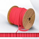Fabric cable 2х0.75mm² neon pink