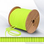 Fabric cable 2х0.75mm² neon yellow-green