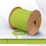 Fabric cable 2х0.75mm² neon light green