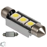 Festoon 39mm Can Bus with 3 SMD Cool White