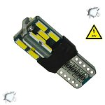 LED T10 Can Bus  24 SMD 4014 Samsung Chip 24v 6000k