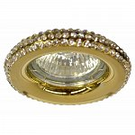 Spotlight fixed gold with white crystals MR16