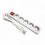 Socket - 5 way, with switch and cable 1,5m