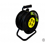 Cable reel   4 ways, with over-heat protection and cable 25