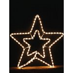 led christmas double star