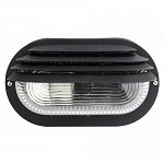 Bulkhead light RINO/B plastic/glass E27 60W IP44 black