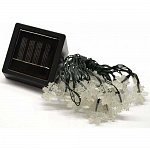 LED Solar Lamp 10 LED White snowflakes Day