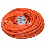 Extension 3h1.5 15 m. with plug and socket orange MZ1-01