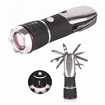 LED flashlight 1W with a pocketknife without batteries 3 * AAA