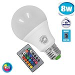Led Bulb  RGB E27 A70  8 WATT