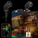 Garden's Christmas LED Laser Projector