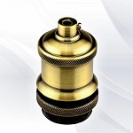 decorative lamp holder E27 brass