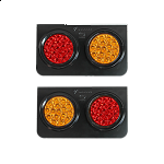 Red Orange LED Lamp IP66 12V / 24V for tracks, bus