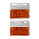 LED Orange Lighting IP66 24V for trucks & vehicles