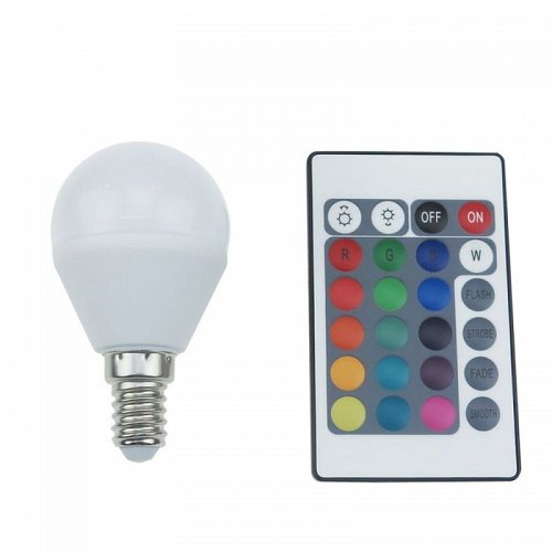 LED BALL E14 G45 4W RGBW Dimmable