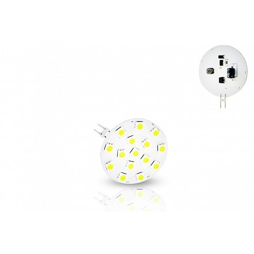G4  With 15 led 2.4 W 10-30 Volt DC Side Pin Warm White