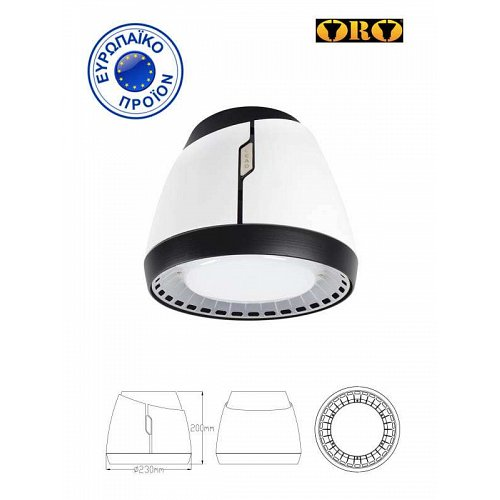 LED HIGHBAY 100W ORO 4000K AERO