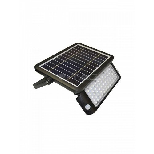 10W LED SOLAR FLOODLIGHT BLACK BODY NATURAL WHITE