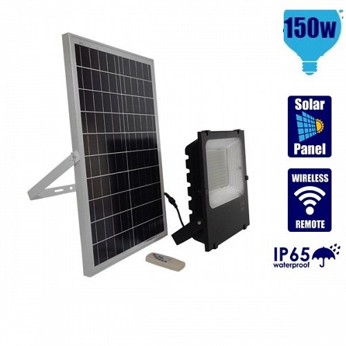 150W Solar LED Projector  Cool White