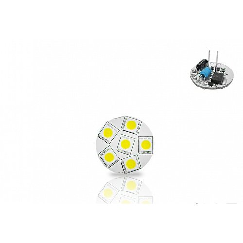 G4  With 6 Led 1.2 W 10-30Volt/DC Back Pin Cool White