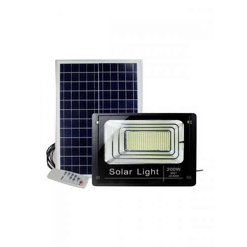 SOLAR LED LIGHT 200W WITH REMOTE CONTROL AND TIMER
