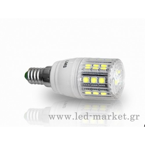 LED Corn L E14 24 SMD 5 W  Dimmable Cool White