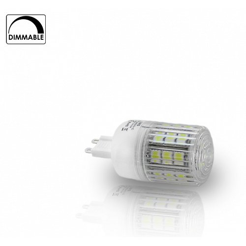 G9  With 24 SMD LED 5 W Dimmable Cool White