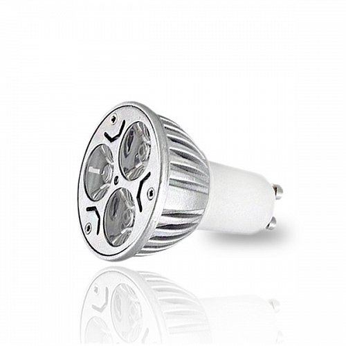 LED Spot  GU10 3x1 W High Power Warm White