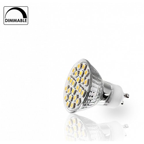 LED Spot GU10 24 smd 5W  5050 Dimmable Warm White