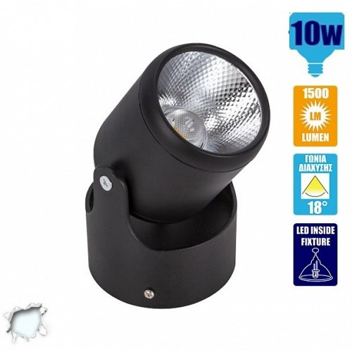 LED Spotlight Black Body 10 Watt